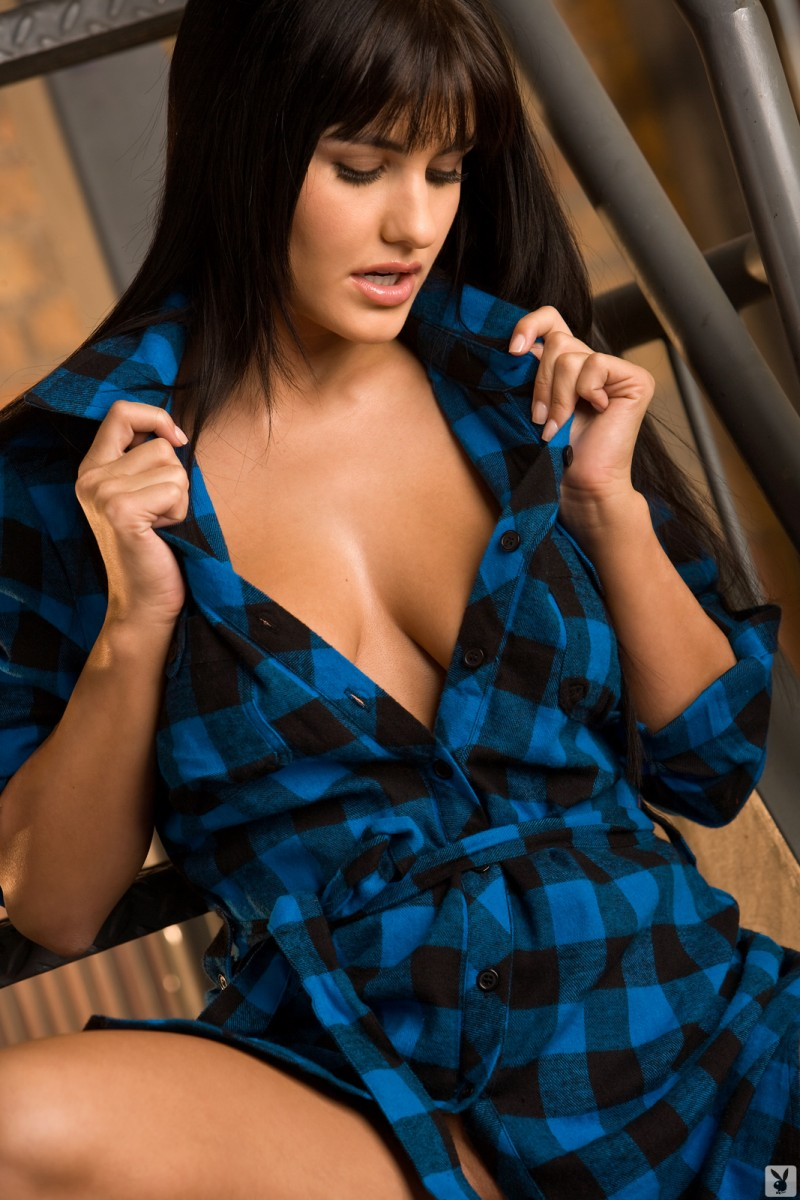 nude girls in plaid