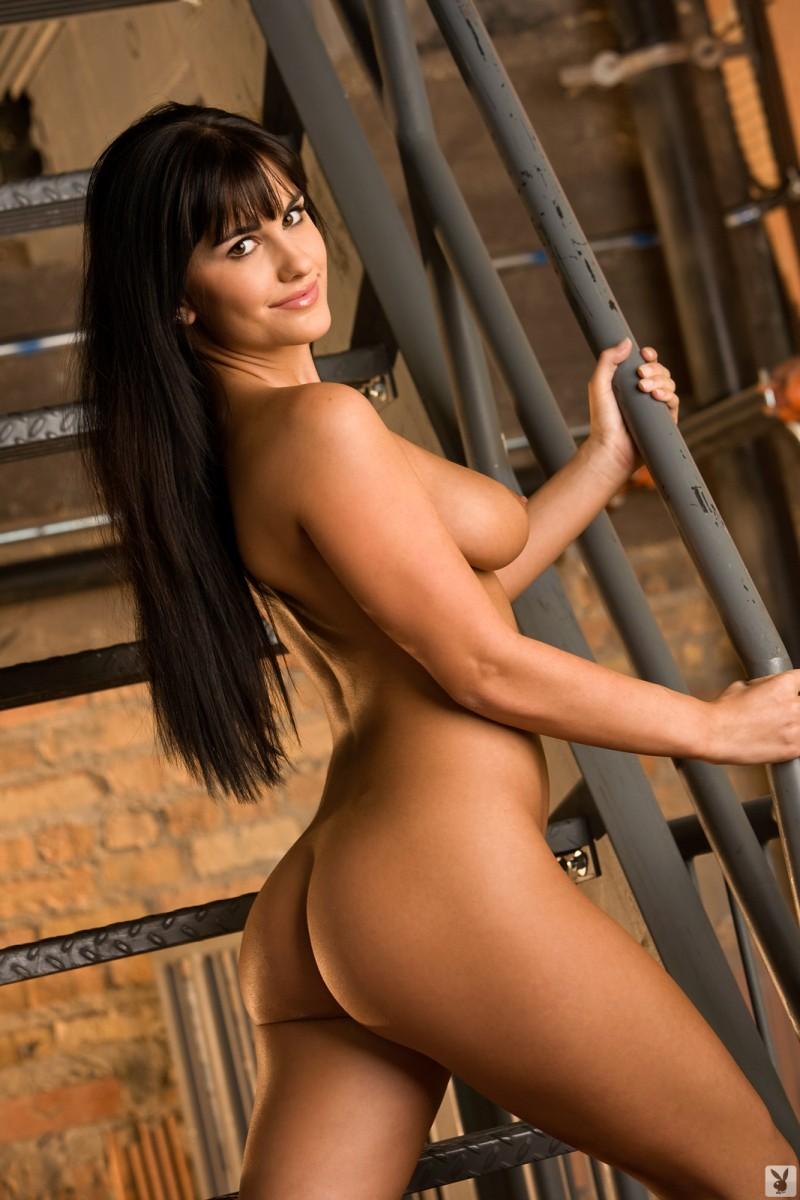 lindsey-alvarez-stairs-plaid-shirt-nude-playboy-17