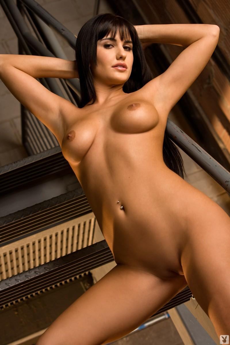 lindsey-alvarez-stairs-plaid-shirt-nude-playboy-25