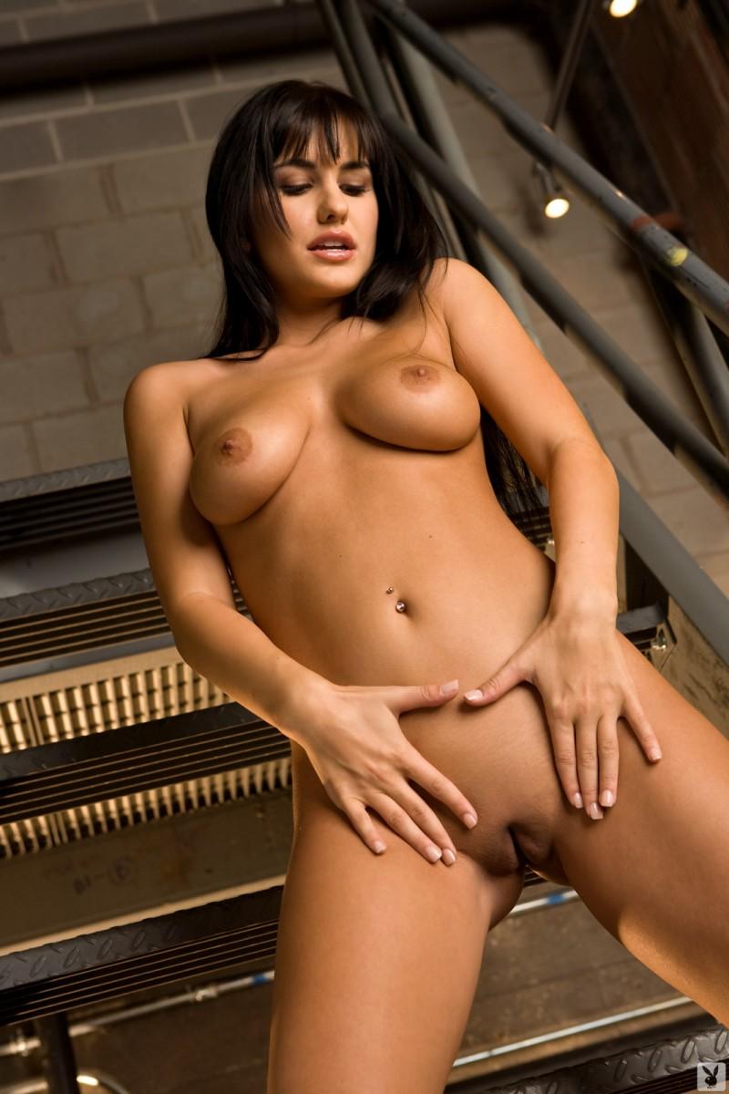 lindsey-alvarez-stairs-plaid-shirt-nude-playboy-28