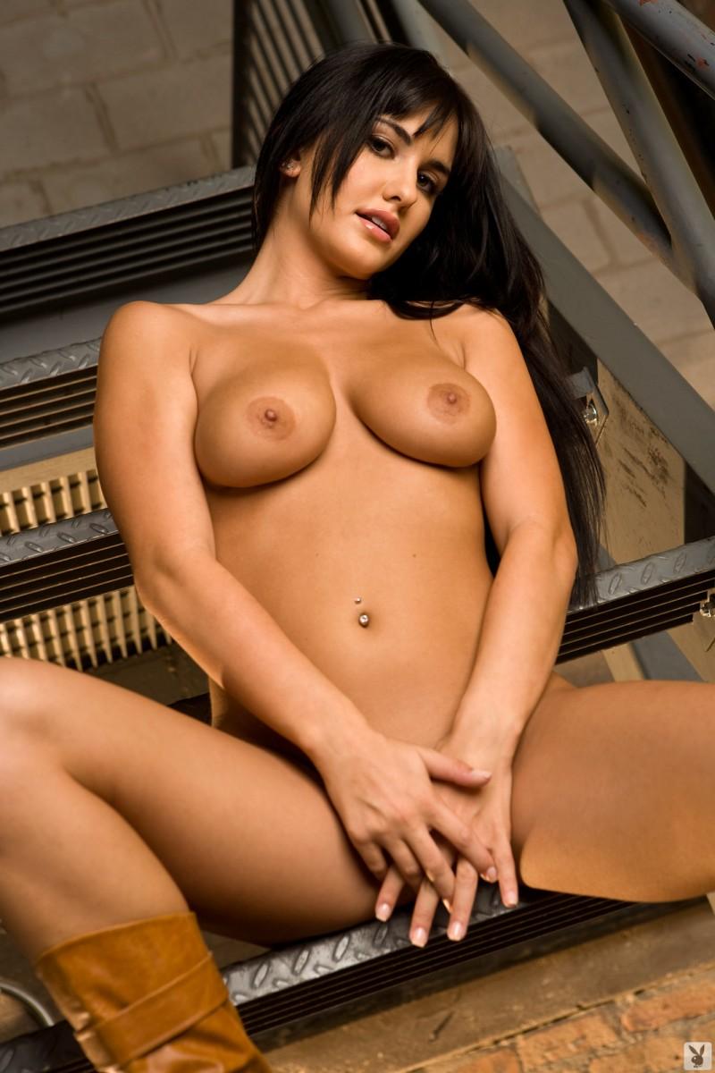 lindsey-alvarez-stairs-plaid-shirt-nude-playboy-31