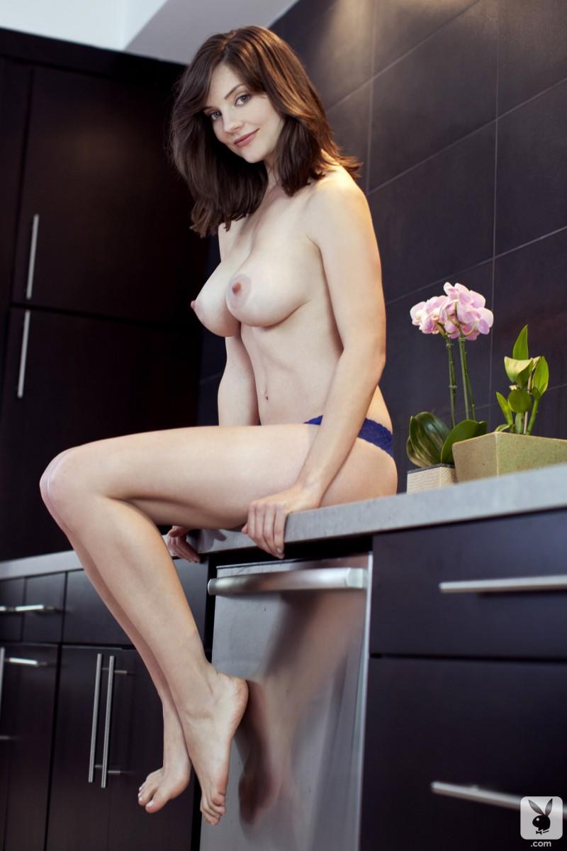 lisa-kate-nude-boobs-kitchen-playboy-13
