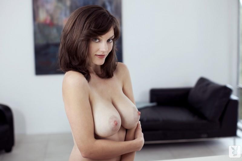 lisa-kate-nude-boobs-kitchen-playboy-21