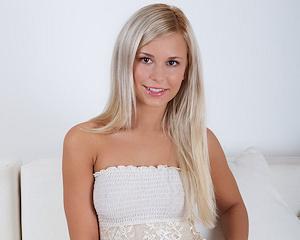 dido-a-blonde-nude-white-dress-metart
