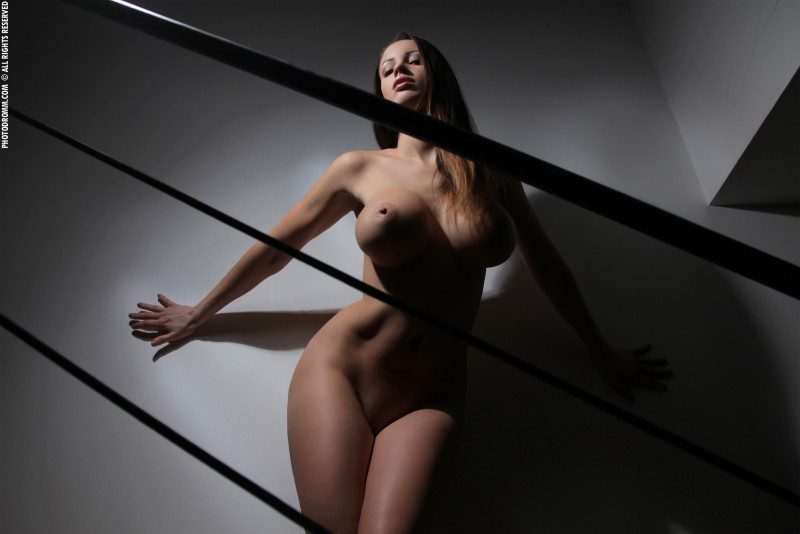 luciana-boobs-stairs-nude-photodromm-13