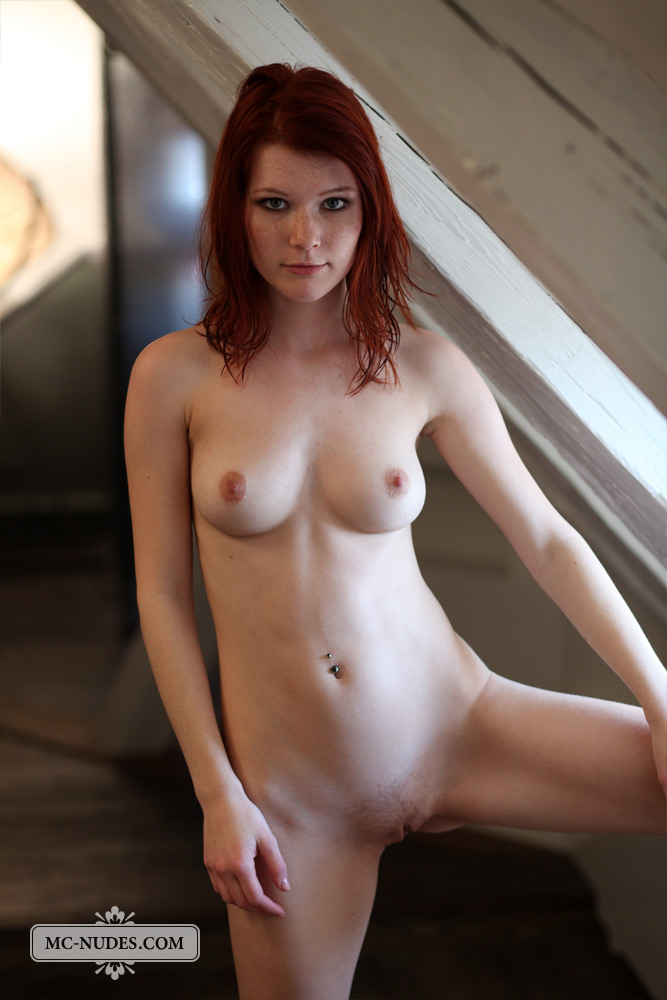 Sexy redhead with perfect body naked apologise, but
