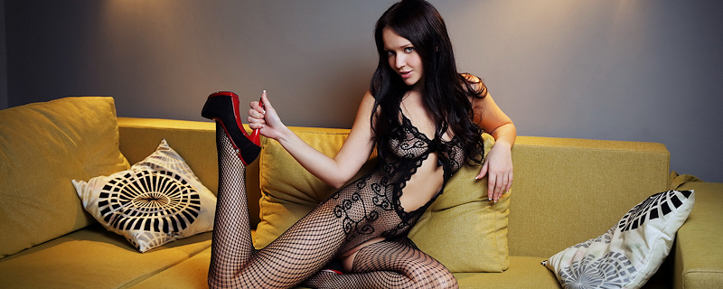 Marica – Bodystocking & high heels