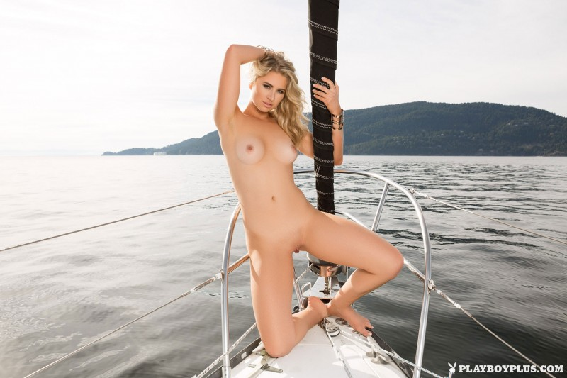 naked blondes on boat