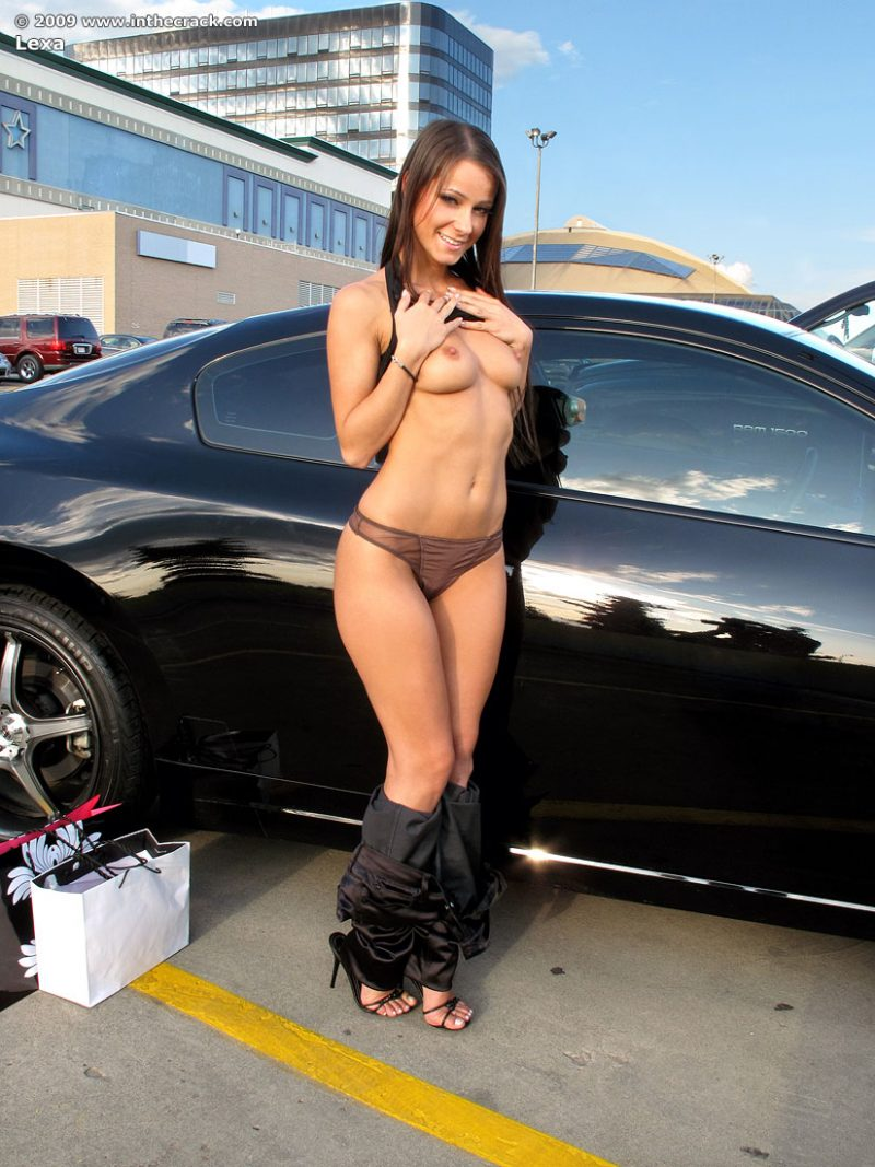 Melisa Mendiny Nude At The Car Park