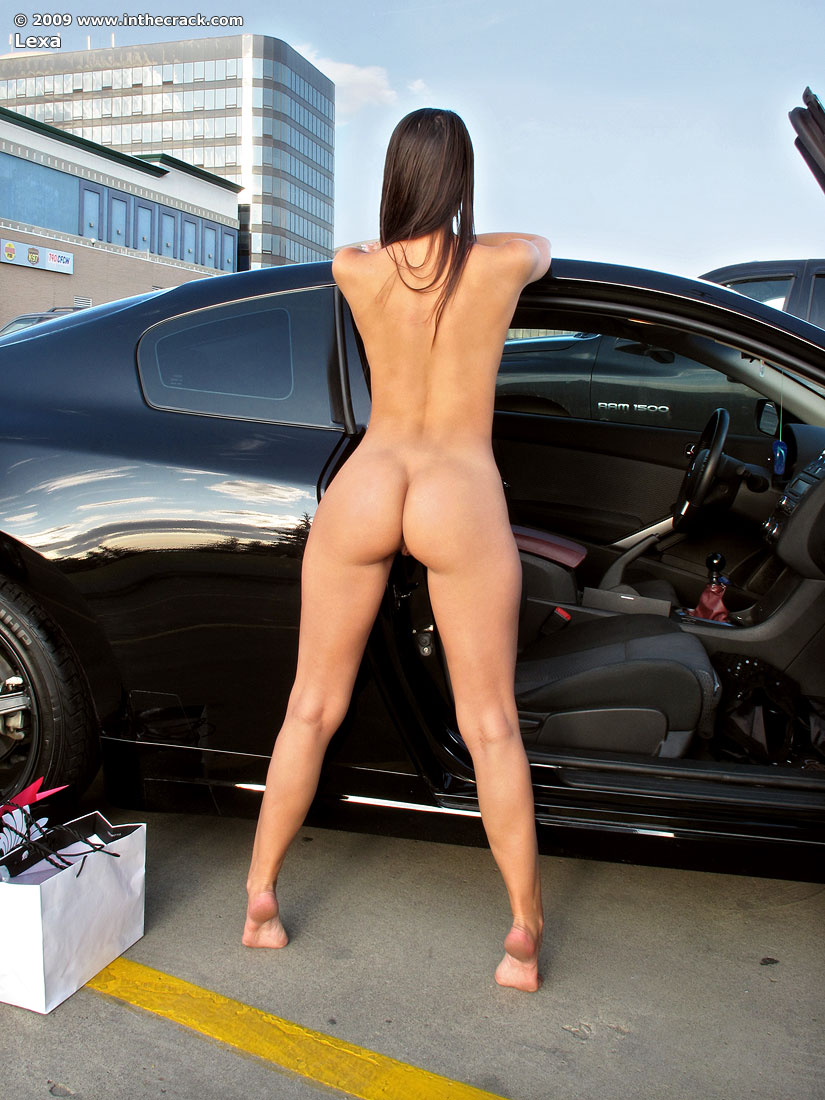 In the crack nude car photo 965