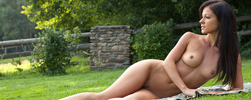Melisa on the lawn