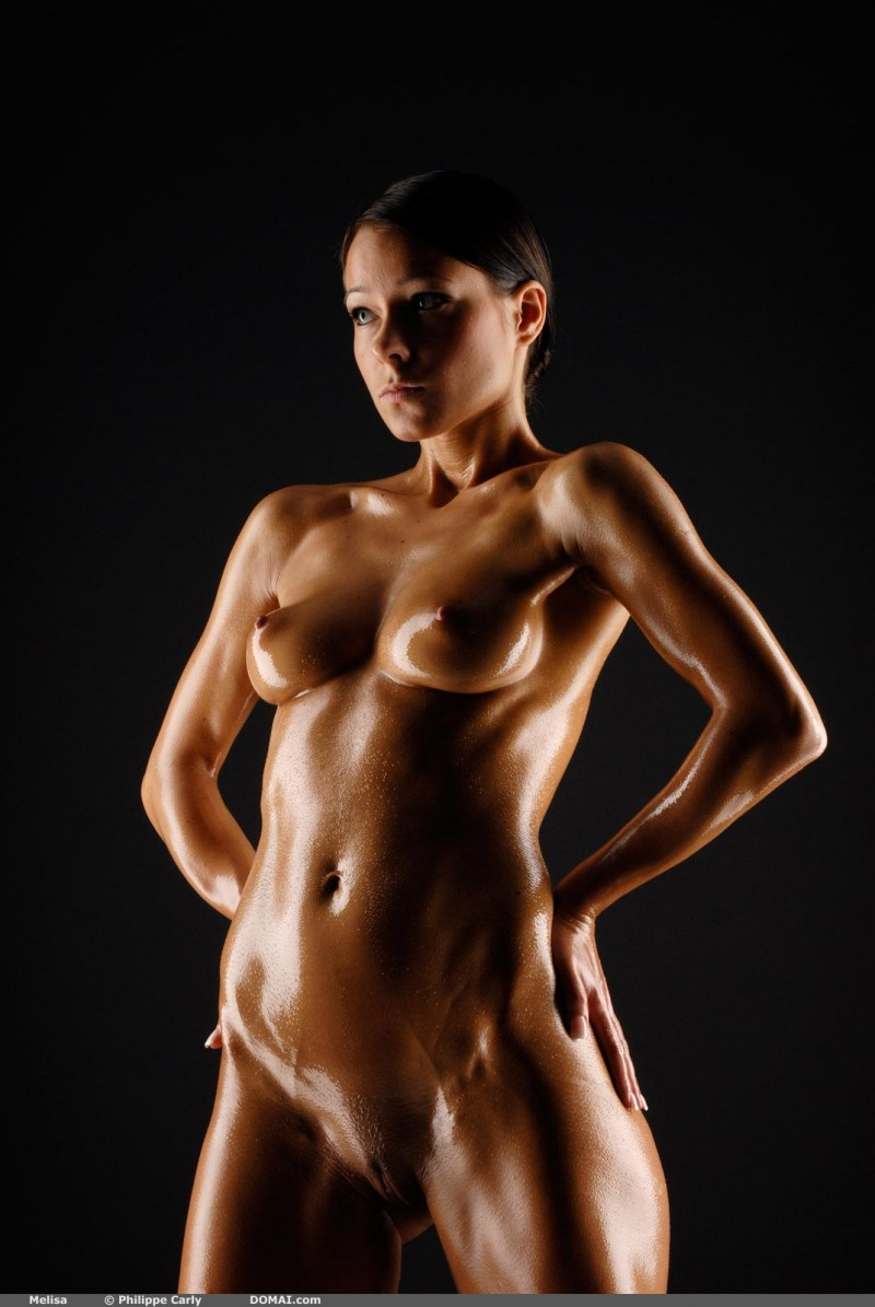 Sexy oily body nude sex charming