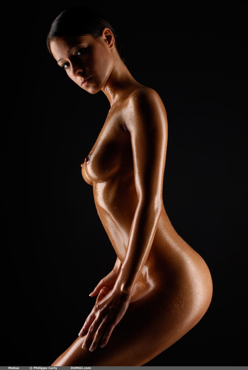 Sexy oily body nude sex