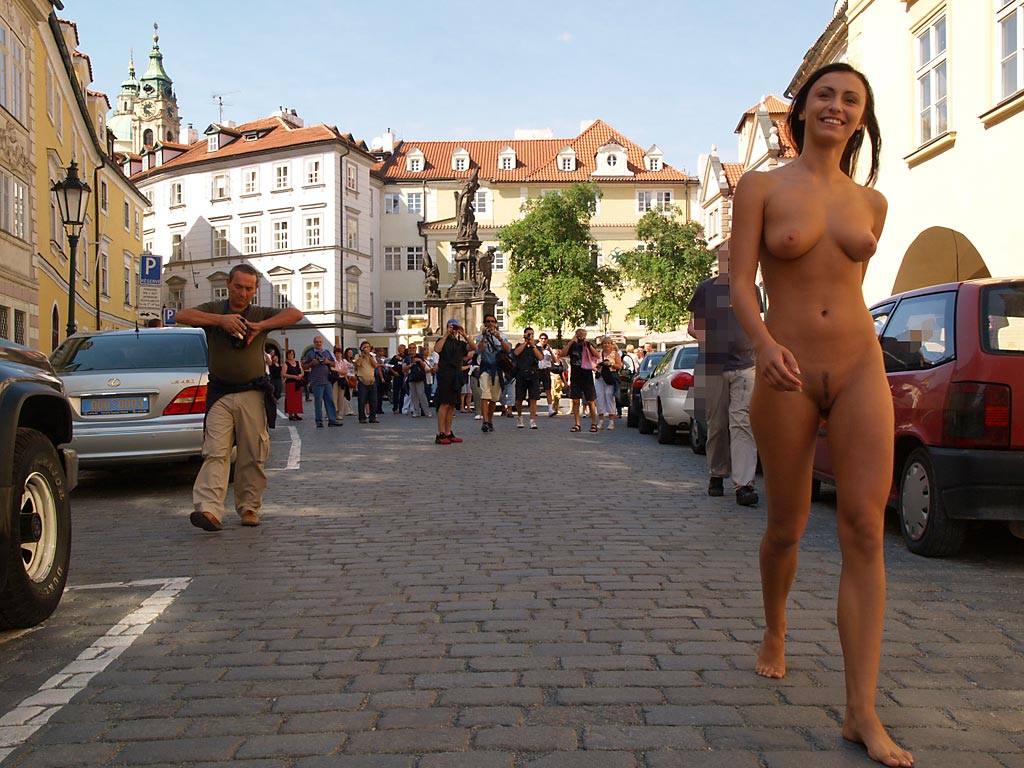 With Nude girls of prague