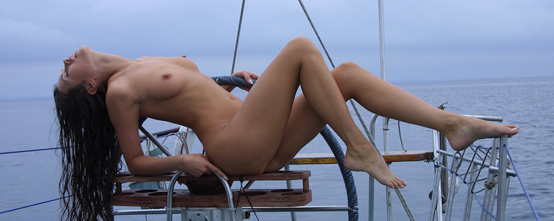 Natasha Johnston naked on yacht