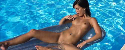 Nella in the pool