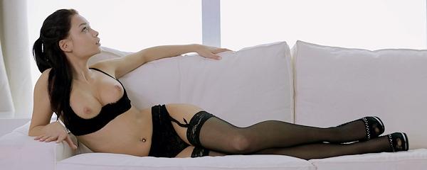 Nici Dee – Black lingerie, stockings & high heels