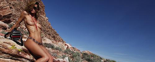 Nikkala Stott on a rocky desert
