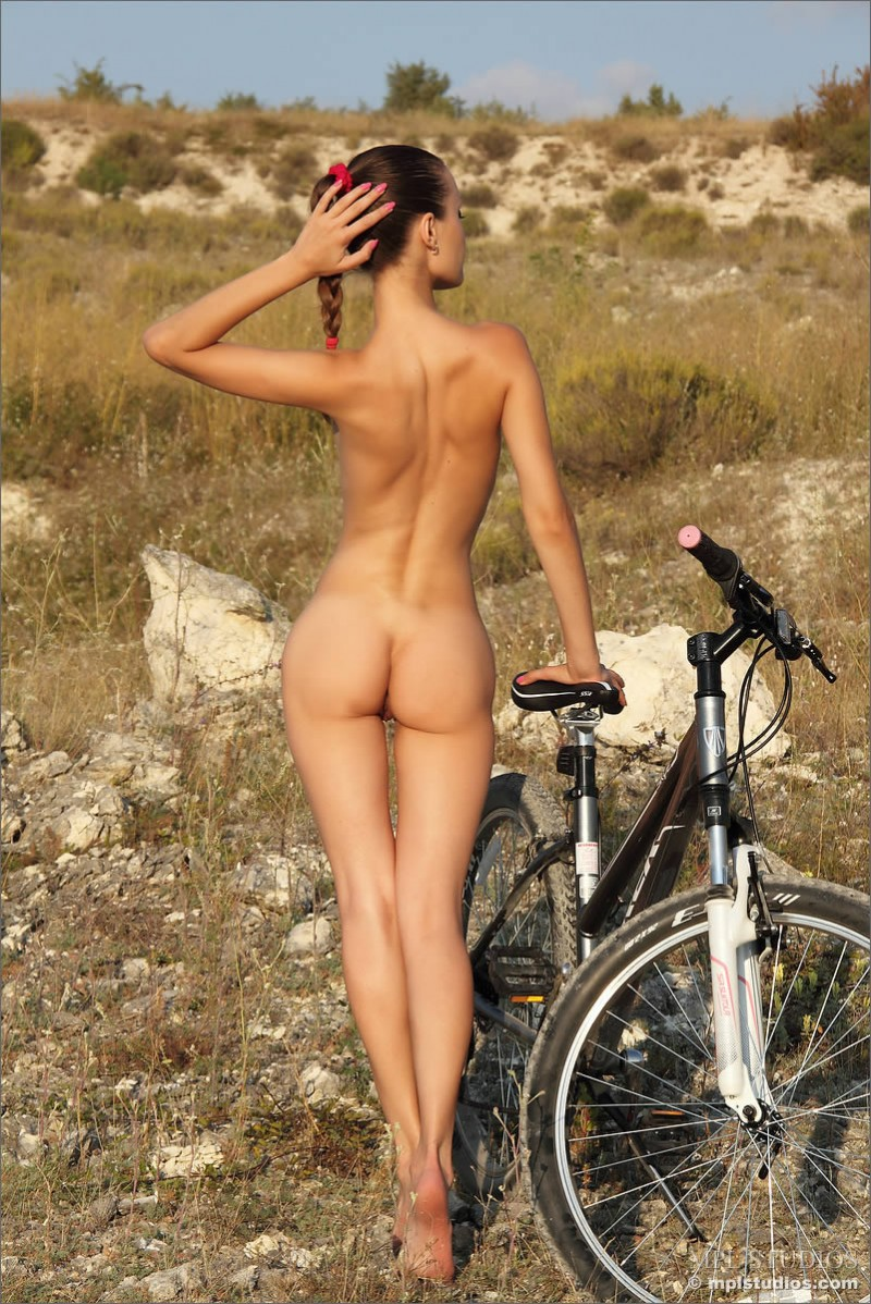 Naked girls on bikes