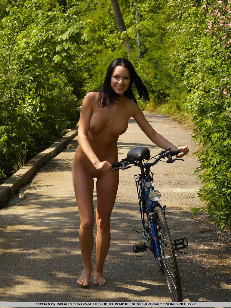 Naked on a bike can