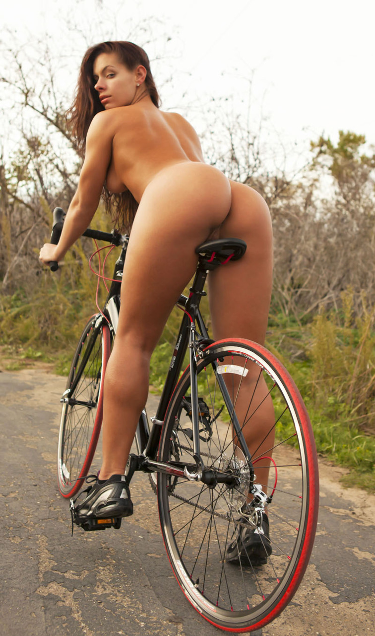 beautiful ass girl rides bike nude