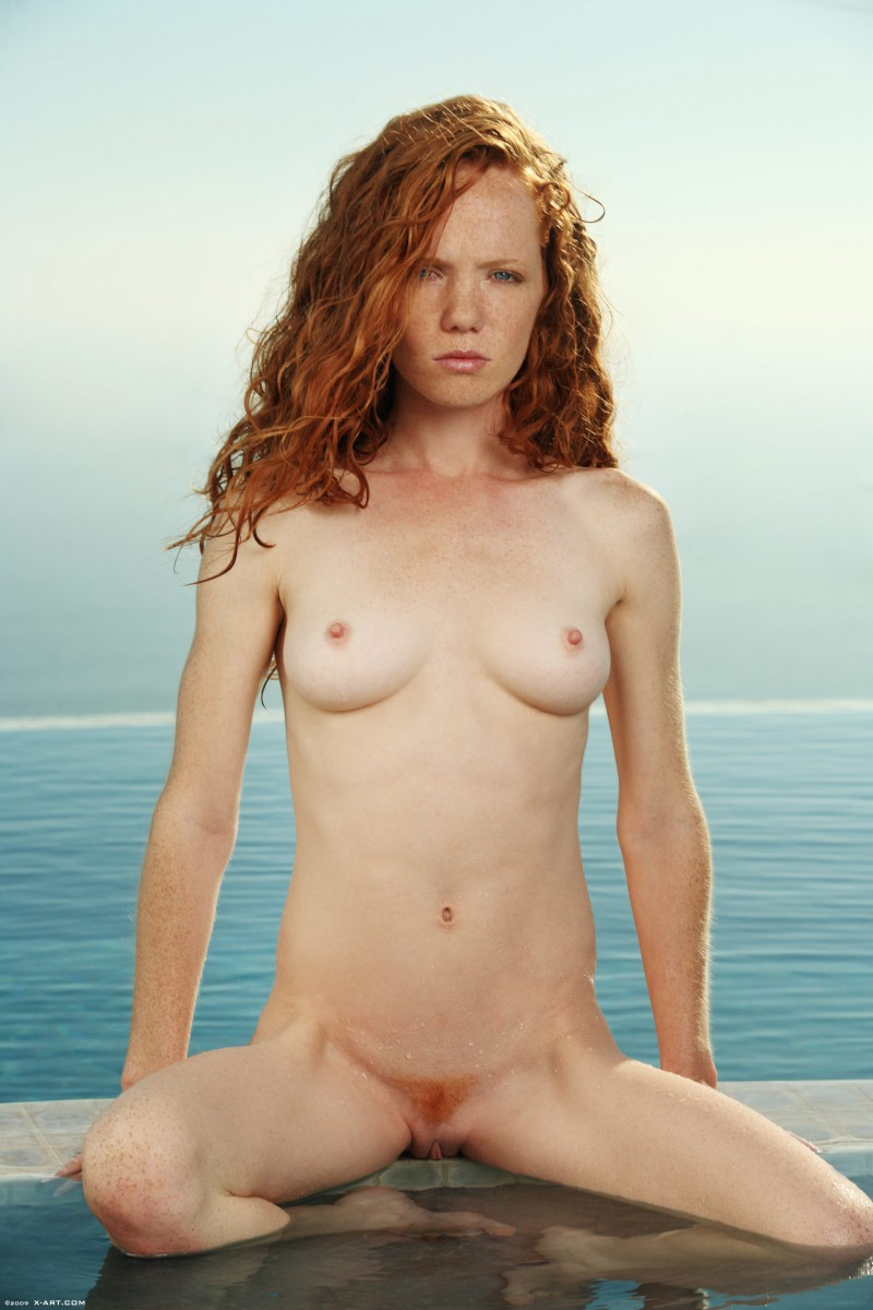 Teen and barefoot fully naked girls redhead