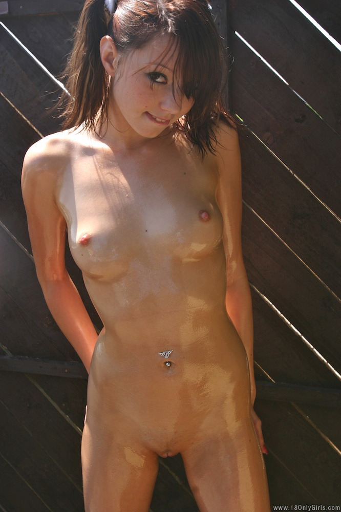 Oiled up babes nude really