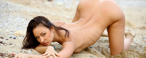 Oksana on the beach