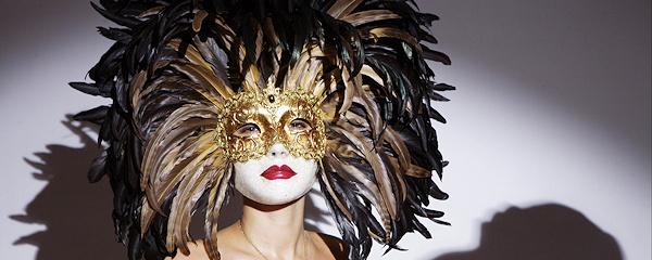 Olga in carnival mask