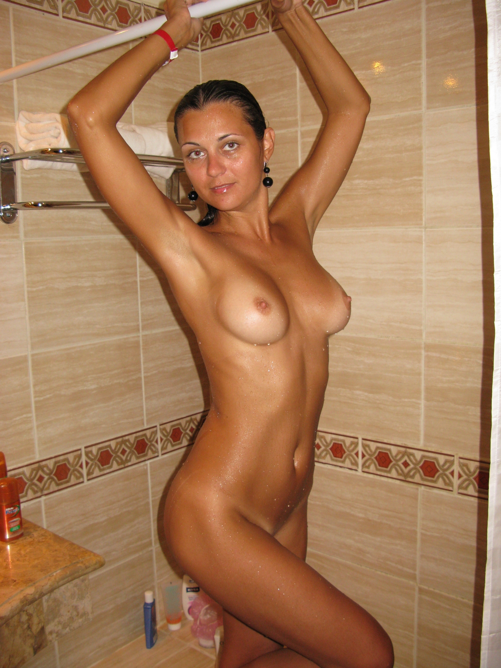 Excited nude amateur body