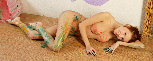 Nata – Playing with paints