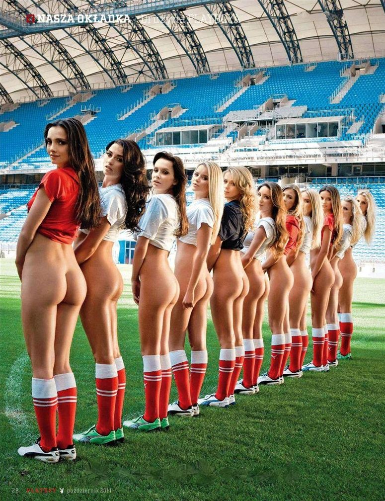 Soccer poland paint Nude girls
