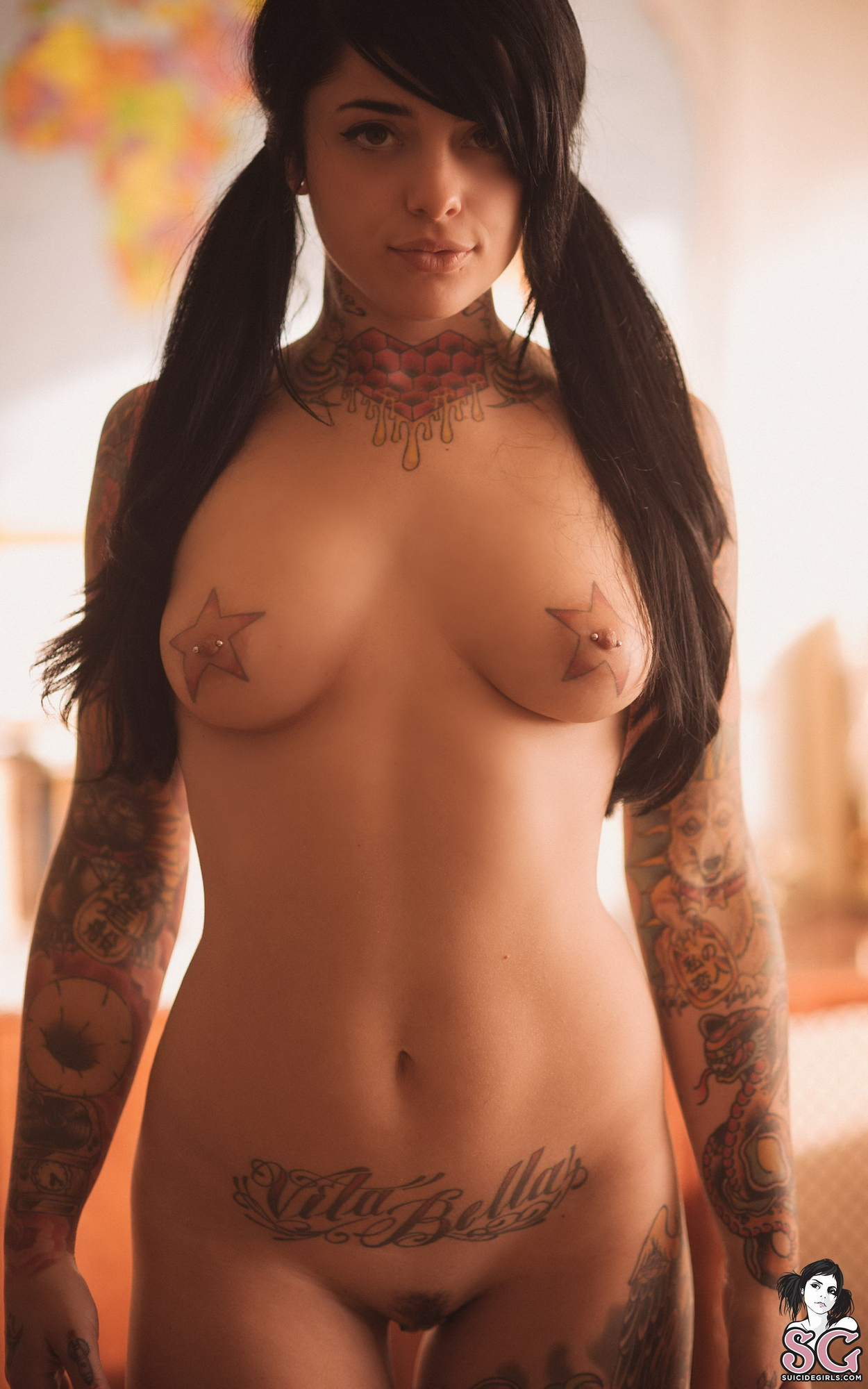 radeo-nude-brunette-roller-skates-tattoo-suicide-girls-20
