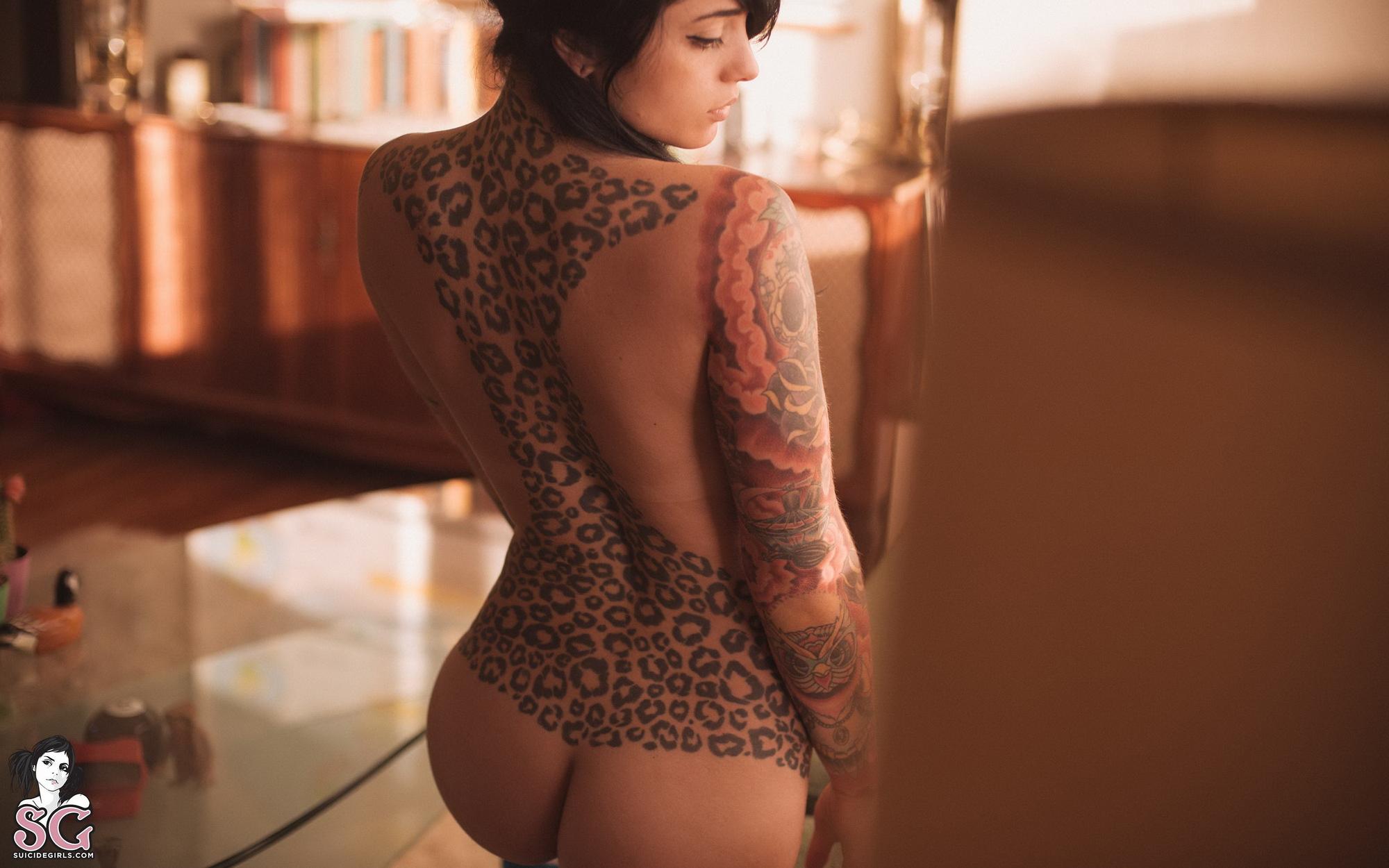 radeo-nude-brunette-roller-skates-tattoo-suicide-girls-25