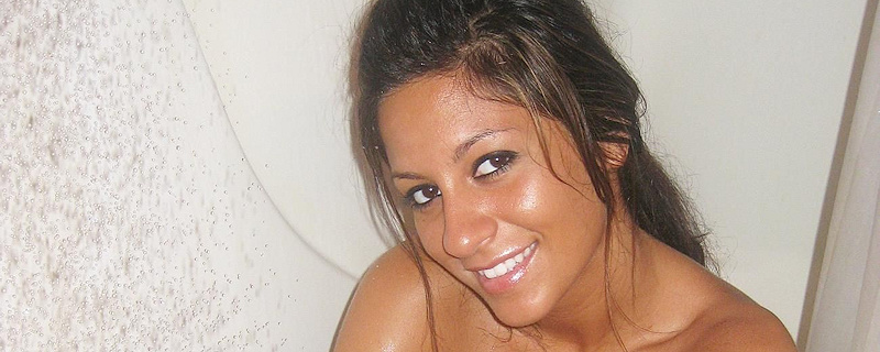Raven Riley shaving legs in the shower
