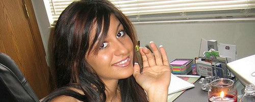 Raven Riley sitting at the desk