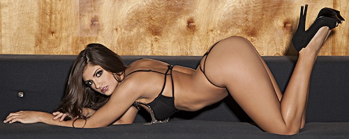 Rebecca Carter – Black fringe lingerie