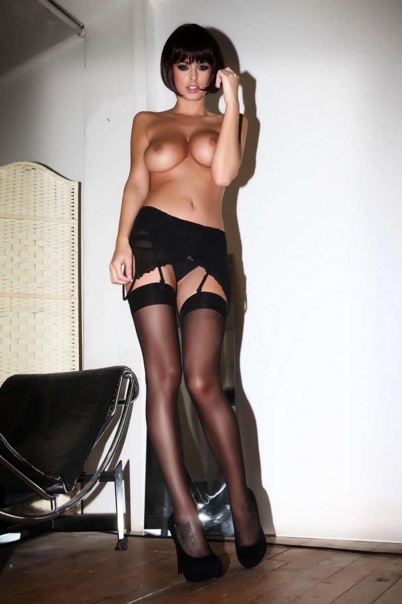 rhian-sugden-stockings-high-heels-topless-13