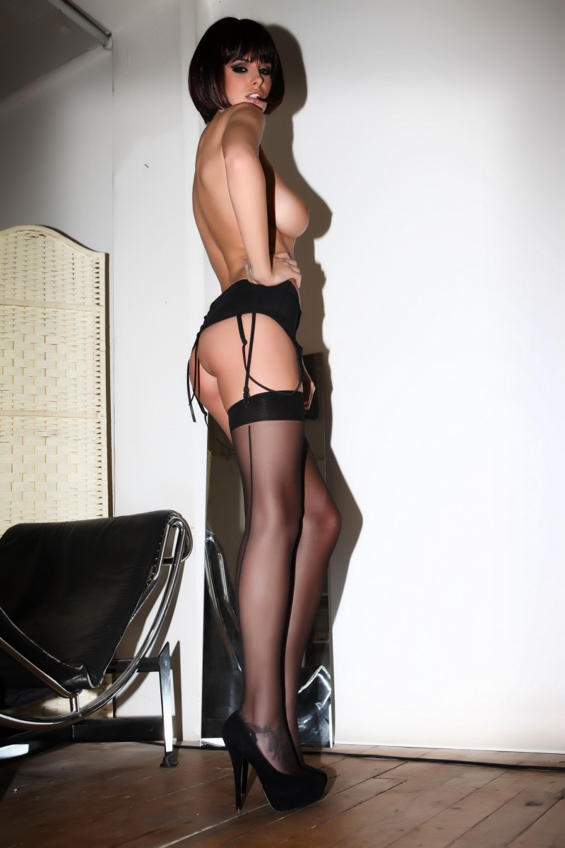 rhian-sugden-stockings-high-heels-topless-15