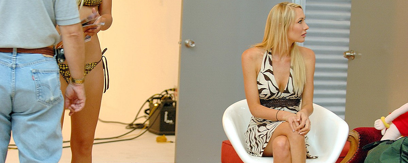 Sabrina Rose in the photo studio