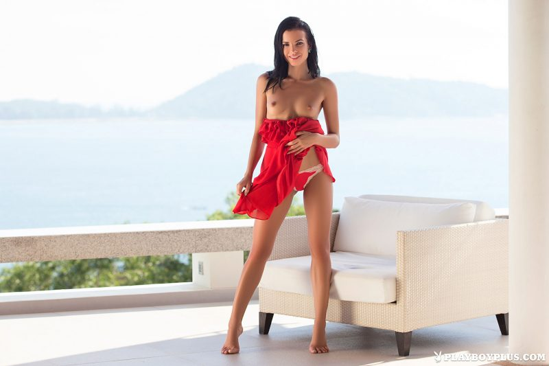 sapphira-nude-brunette-red-dress-playboy-05