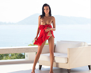 sapphira-nude-brunette-red-dress-playboy