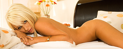 Sara Jean Underwood in bedroom