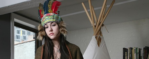 Sasha Grey – Indian teepee