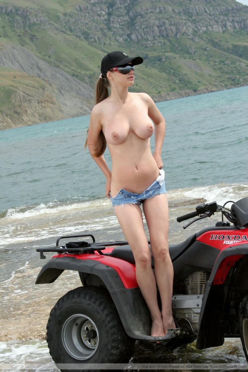 Was specially Naked on a quad really