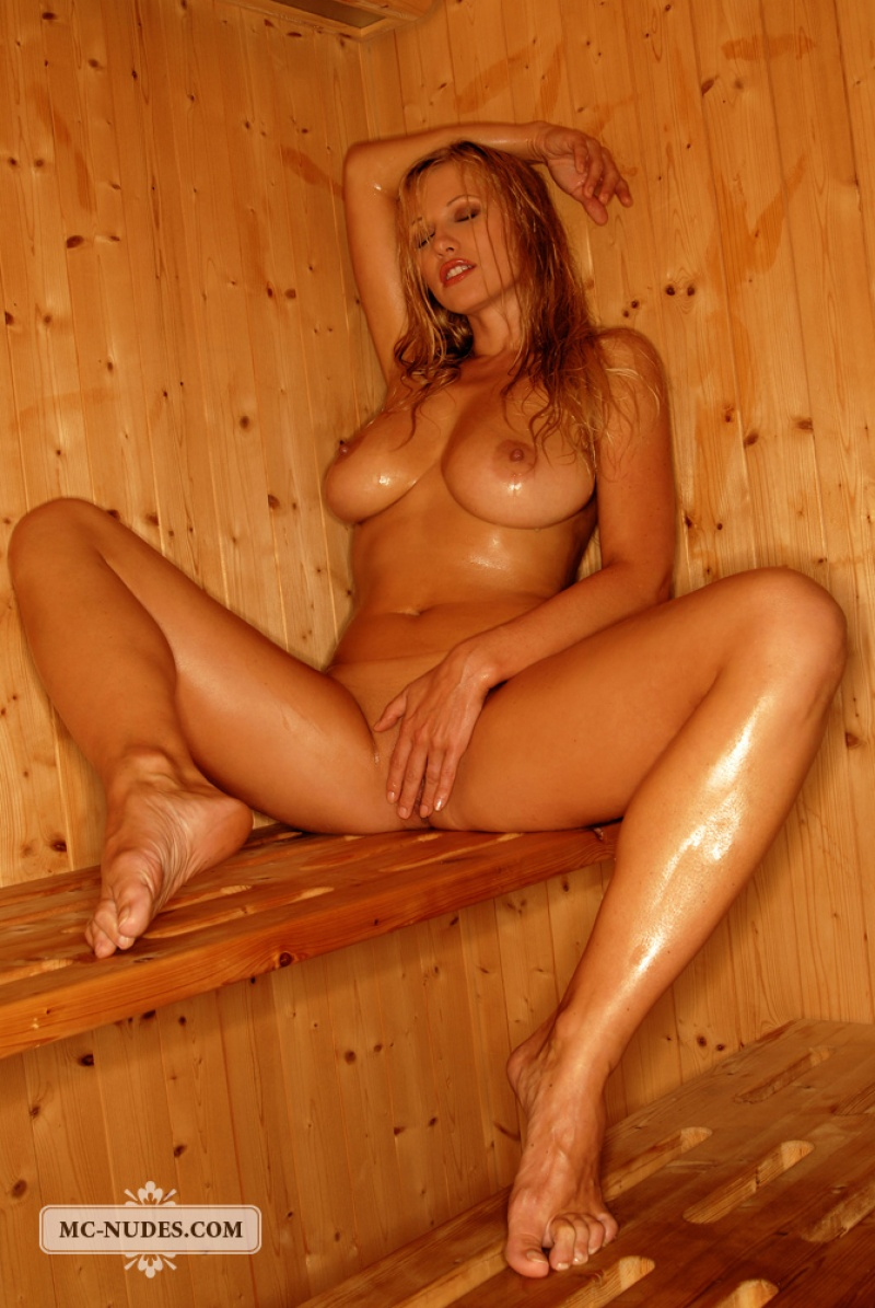 Was specially sexy naked blonde in sauna your