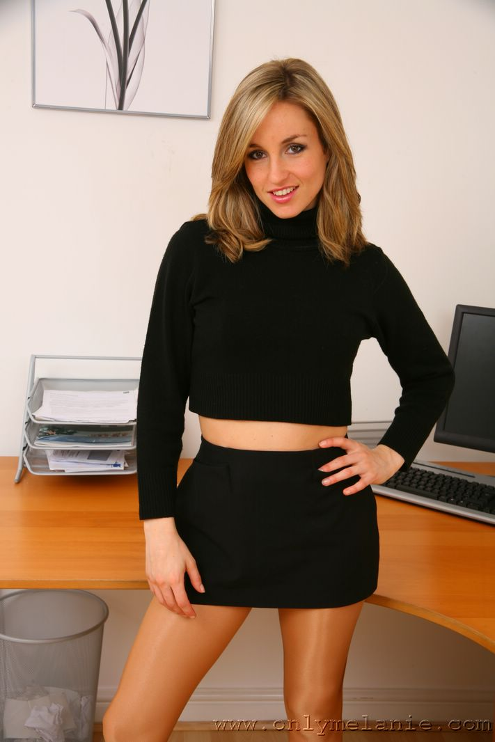 Nylon pantyhose secretary