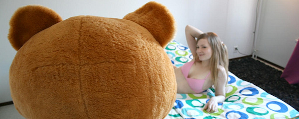 Sex with teddy bear