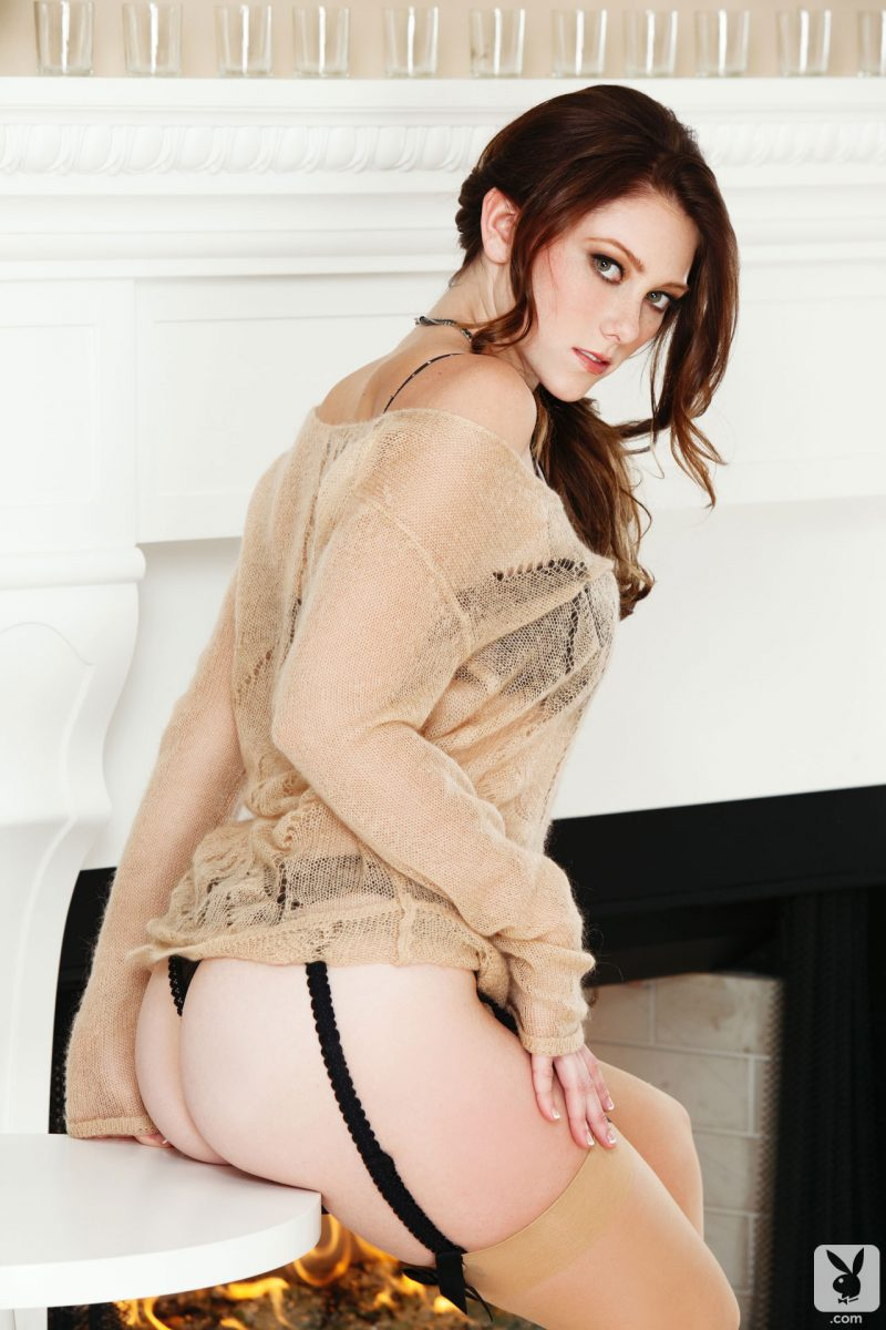 shae-snow-fireplace-stockings-naked-playboy-04