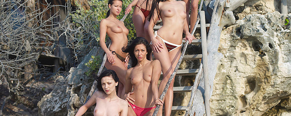 Six beautiful women on the beach vol.2